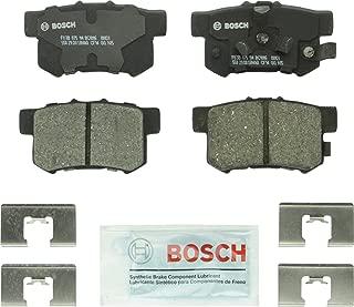 Bosch BC1086 QuietCast Premium Ceramic Disc Brake Pad Set For: Acura RDX; Honda Accord Crosstour, Crosstour, CR-V, Rear