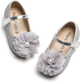 Sponsored Ad - Felix & Flora Toddler Little Girl Mary Jane Dress Shoes - Ballet Flats for Girl Party School Shoes.