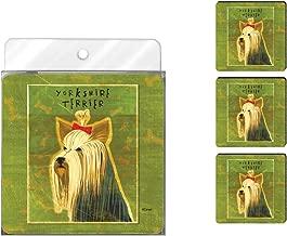 Tree-Free Greetings NC37993 John W. Golden 4-Pack Artful Coaster Set, Yorkshire Terrier
