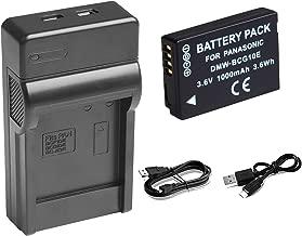 DMW-BCG10E/DMW-BCG10PP Replacement Battery and USB Charger for Panasonic Lumix DMC-ZS19, DMC-ZS8, DMC-ZS10, DMC-ZS20, DMC-ZS7, DMC-ZS3, DMC-ZS15, DMC-ZS5, DMC-ZS1, DMC-ZS6, DMC-TZ20, DMC-TZ7, DMC-ZR3