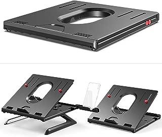 Laptop Stand, Adjustable Laptop Stand Riser, Foldable Desktop Notebook Holder Mount, Adjustable Eye-Level Ergonomic Design, Portable Laptop Riser for Computer PC Tablet Phone, Multi-Angle EURPMASK