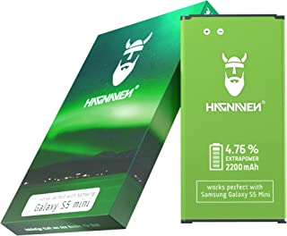 Batería Hagnaven® Li-Ion para Samsung Galaxy S5 Mini SM-G800F | Mayor Potencia Batería de Repuesto | 2200 mAh Fuerza increíble | Celdas DE Calidad | Sustituye BG800BBE
