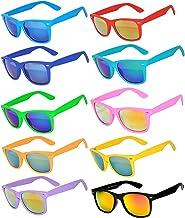 10 Ten Classic Vintage Full Mirror Lens Sunglasses Colored, 10pairs, Size Medium