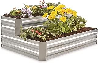 CASTLECREEK Galvanized Steel Stair Planter Box