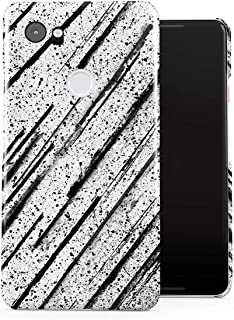 DODOX Black Ink Splash & Black Pencil Brush Pattern Case Compatible with Google Pixel 2 XL Snap-On Hard Plastic Protective Shell Cover Carcasa