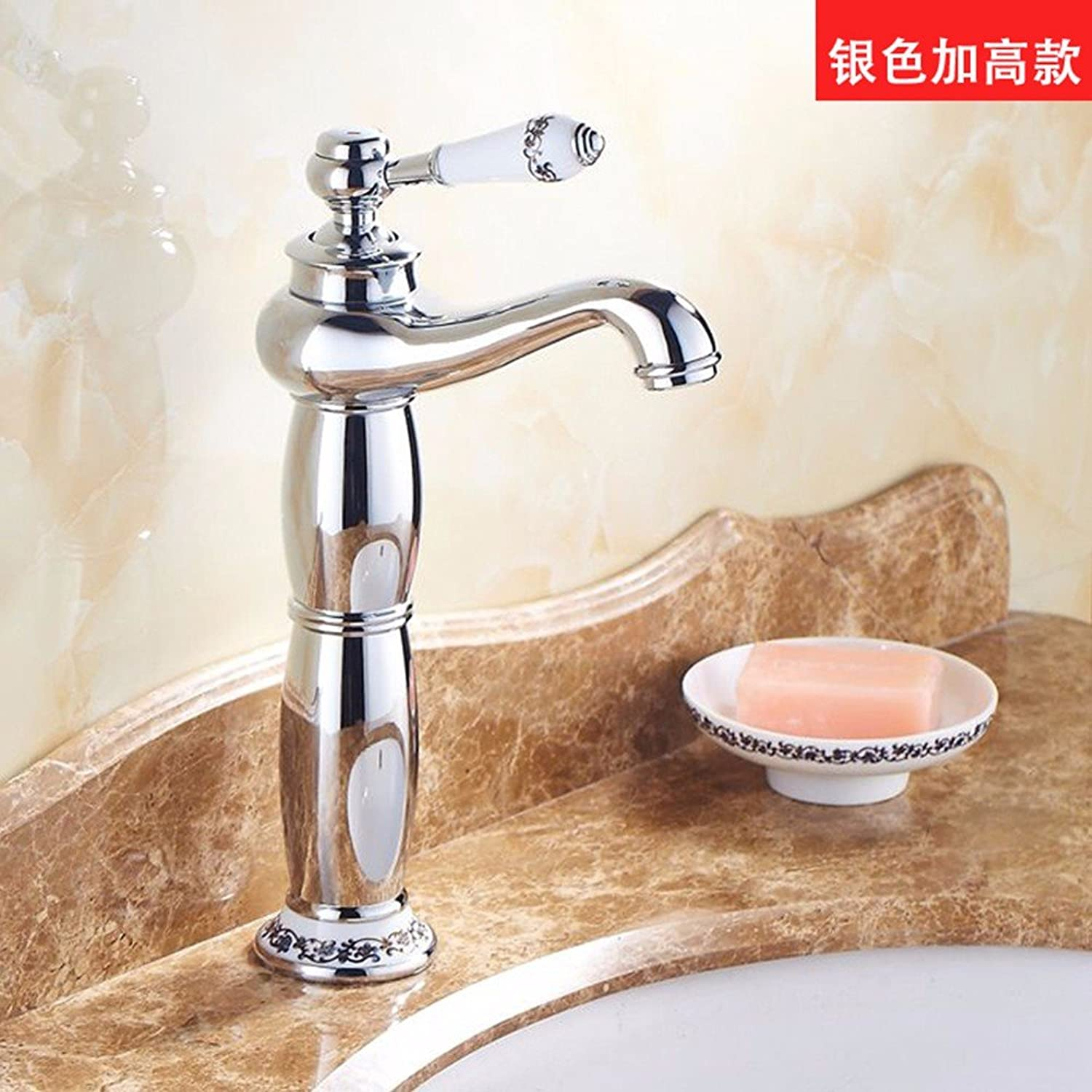 Hlluya Professional Sink Mixer Tap Kitchen Faucet Copper, cold and hot, Single Hole basin, the higher the Faucet 17