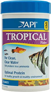 API FISH FOOD FLAKES, Formulated to help fish more readily use nutrients which means less waste and clean, clear water, Fe...