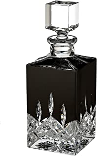 Waterford Lismore Black Square Crystal Decanter