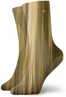 ASS, Paquete de calcetines de vestir unisex Luces abstractas doradas Divertidos calcetines de poliéster