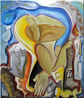 """Pintura Original Lienzo al Óleo Arte Abstracto Moderno """"LA ULTIMA NOCHE DE AMOR"""" por DOBOS, Cuadro para Decoración del Hog..."""