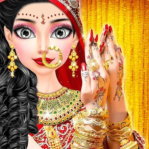 Royal North Indian Wedding Beauty Salon & Handart - Royal Makeover Wedding Makeup Salon Bridal - Beauty Makeover Girls Game