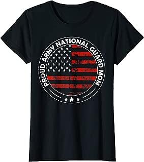 Womens National Guard Mom Shirt Proud Army National Guard Mom Gift T-Shirt