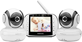 """Motorola MBP36S-2 Video Baby Monitor -Two Cameras, 3.5"""" LCD Color Screen Display, 2-Way Audio -Remote Pan, Tilt, Zoom, Inf..."""