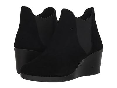 Crocs Leigh Wedge Chelsea Boot (Black) Women