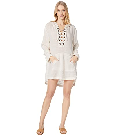 L*Space Love Letters Tunic Cover-Up (Cream) Women