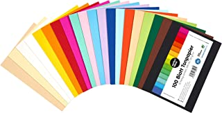 perfect ideaz 100 feuilles de Cartonette DIN-A6 (105 x 148 mm), Papier à dessin, teinté dans la masse, en 20 coloris diffé...