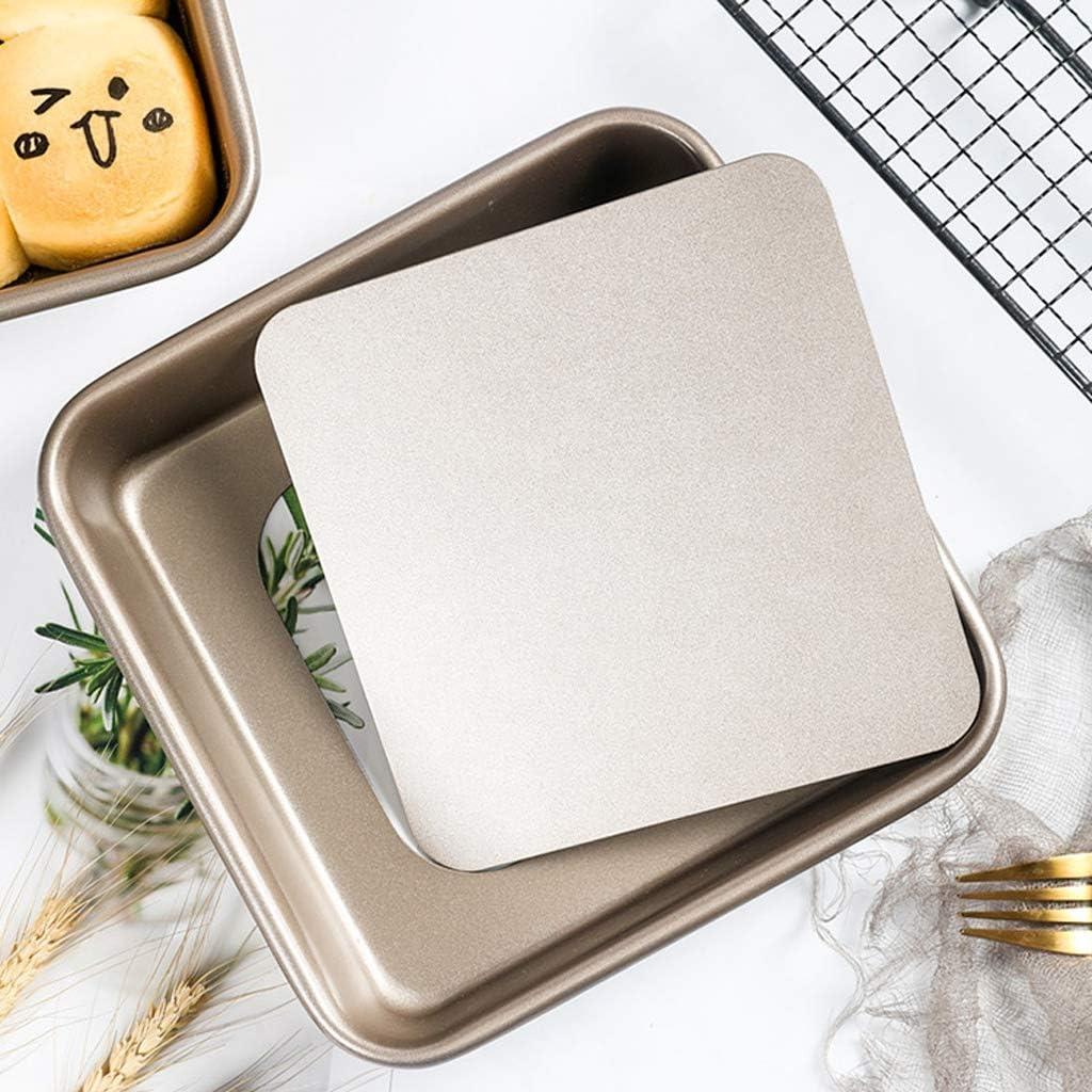 Plat fou de Jia He Plateau de cuisson, or 8 pouces antiadhésif Moule à gâteau carré de fond moule à pain antiadhésif Fromage Shallow cuisson Lèchefrite ## (Color : A) A