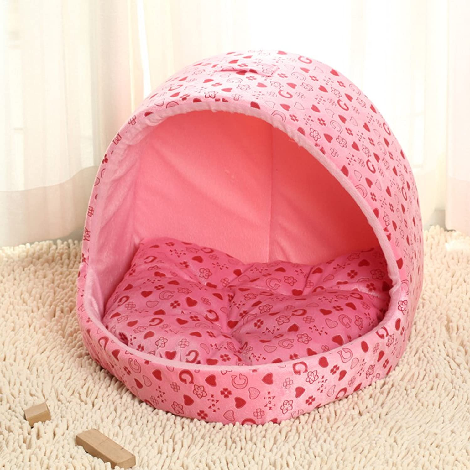 Dog Kennel Removable And Washable, Autumn And Winter Warm Pet Nest Dog Bed, Pet Supplies,M