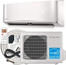 DuctlessAire 12,000 BTU 22 SEER Energy Star Ductless Mini Split Air Conditioner and Heat Pump Variable Speed Inverter 220V, Complete 25ft Kit Included