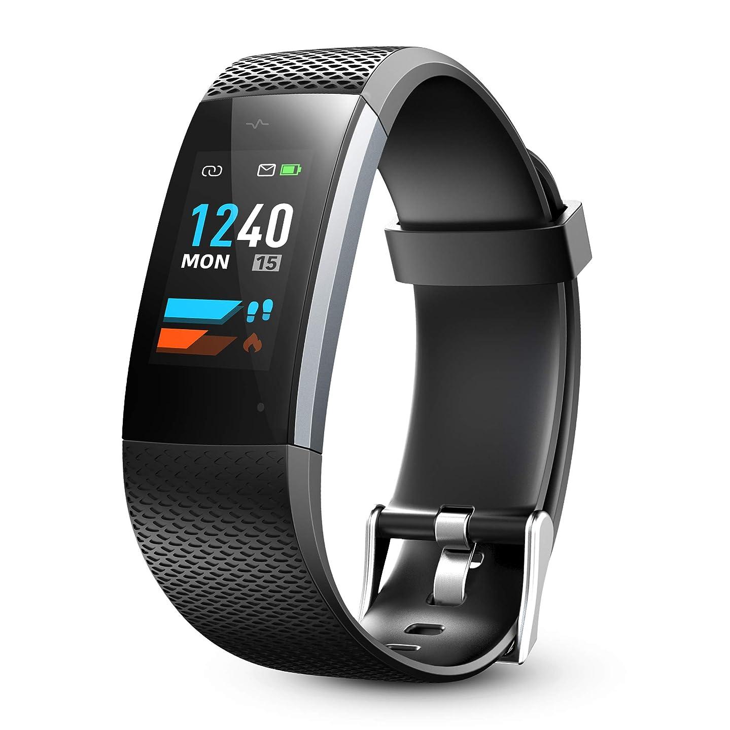 Lenovo Fitness Tracker, Original Fitness Tracker Heart Rate Monitor, Color Screen Sport Smart Watch, IP67 Waterproof Activity Tracker, Step Calorie Counter Women Men