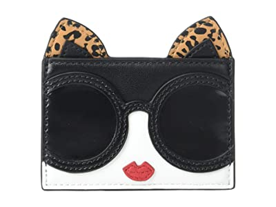 Alice + Olivia Elle Cat Ears Card Case (Stacey Face) Handbags