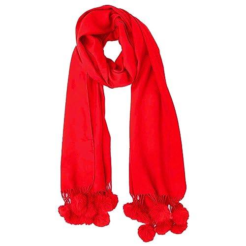 7952c0b8f Ladies Women Lagenlook Quirky Pom Pom Cashmere Wool Mix Knit Multiway Wrap  Shawl Scarf Snood Gift