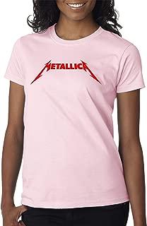 Trendy USA 1331 - Women's T-Shirt Metallica Metal Rock Band Logo