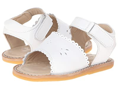 Elephantito Classic Sandal w/Scallop (Toddler) (White) Girls Shoes