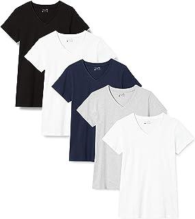 Berydale T-shirt donna con scollo a V, Pacco da 5