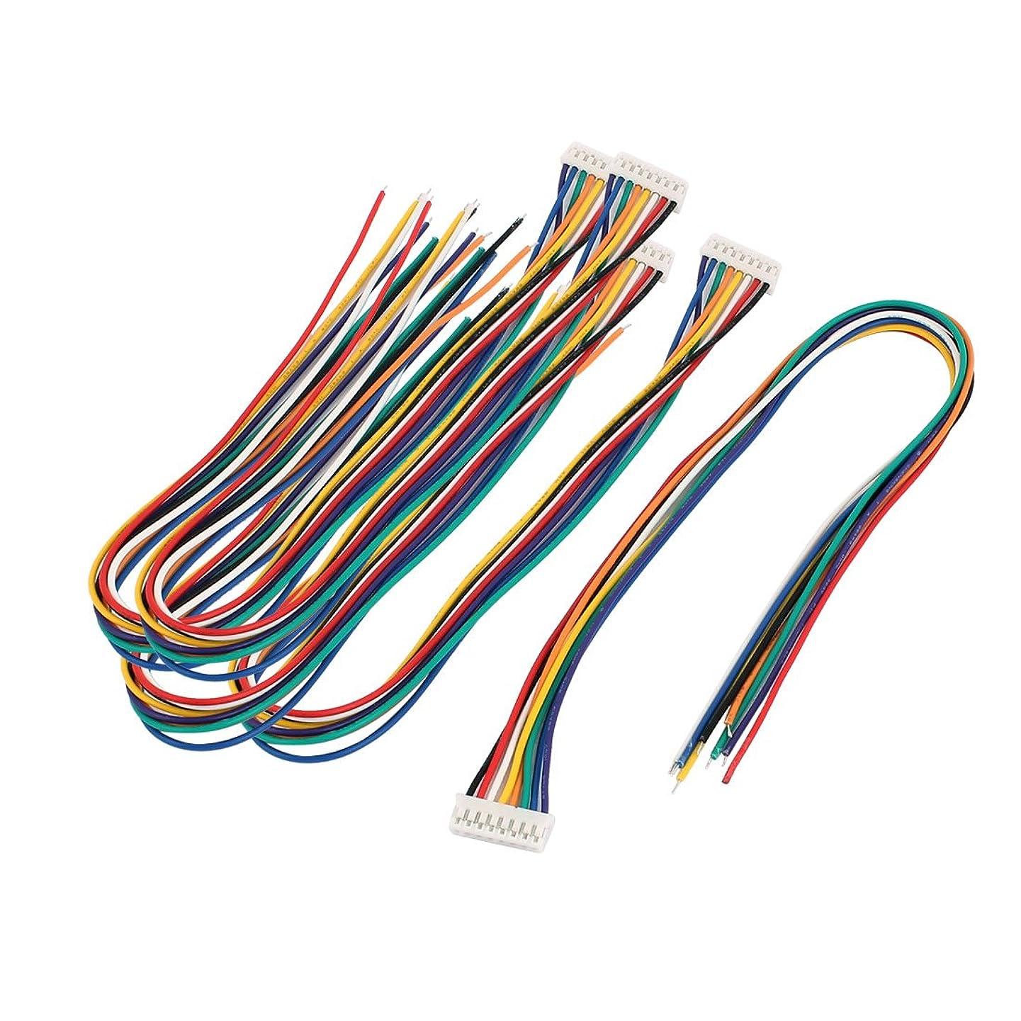 uxcell 5 Pcs Single End 8P PH2.0 Balance Connector Extension Wire 30cm Multi-Color