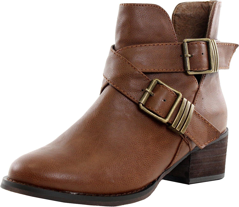 Breckelles Womens Bronco-11 Bootie Boots
