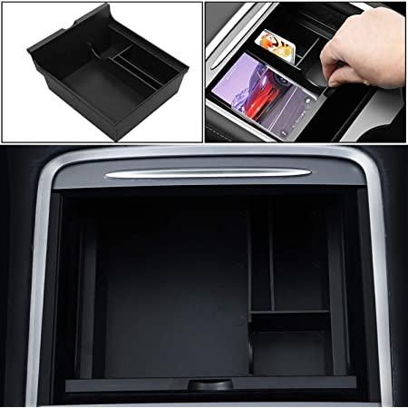 Camisin for Tesla Model 3 Model Y 2021 Accessories Center Console Car Cup Holder Insert Storage Box