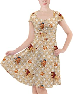 Rainbow Rules Hakuna Matata Lion King Disney Inspired Sweetheart Midi Dress