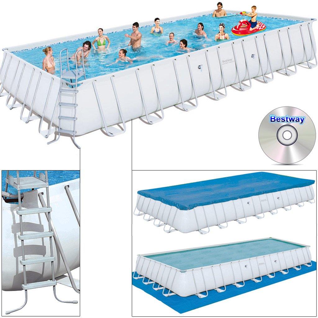 Bestway Frame Pool Power Steel Set, 549 x 274 x 122 cm: Amazon.es: Jardín