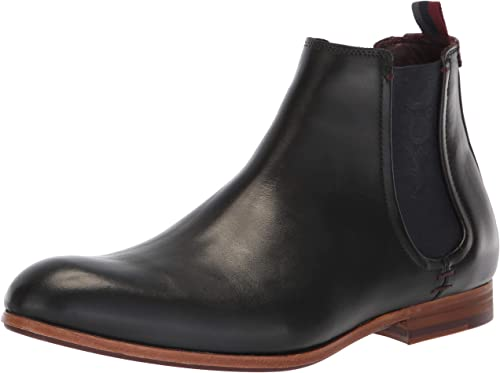 Ted Baker Men's WHRON Chelsea botas, negro Leather, 10 Medium US
