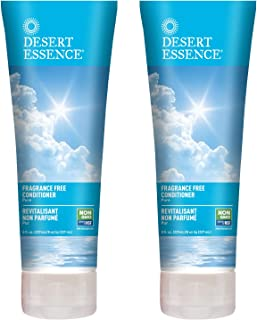 Desert Essence Fragrance Free Conditioner - Pure - 8 Fl Ounce - Pack of 2 - Gloss & Shine - Smoothes & Softens Hair - No O...
