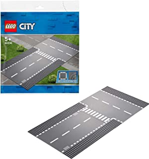 LEGO City Supplementary Straight & T-Junction Toy Train Tracks for Kids