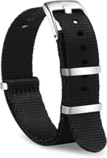 OLLREAR Nylon Watch Strap Replacement Canvas Woven Fabric Watch Band -15 Colors & 2 Sizes - 20mm, 22mm