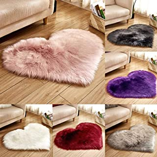 MEANIT Super Soft Faux Sheepskin Fur Area Rugs for Bedroom Floor Shaggy Plush Carpet Faux Fur Rug Bedside Rugs