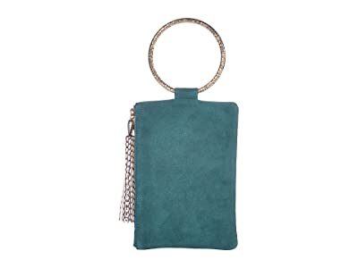 THACKER Nolita-Hammered Clutch (Dark Teal) Handbags