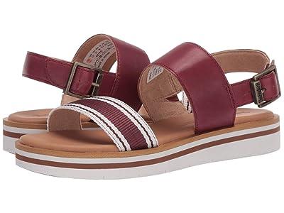Timberland Adley Shore Ankle Strap Sandal (Burgundy Full Grain Leather) Women