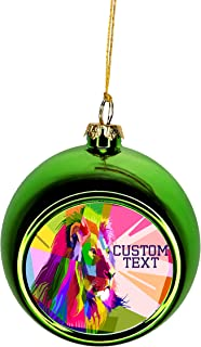 Rosie Parker Inc. Animal Ornaments Lion Ornament Christmas Ornaments Personalized Christmas Ornaments with Initials Green Bauble Christmas Ornament Balls Tree Decoration