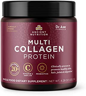 Multi Collagen Protein Powder - Pure, Formulated by Dr. Josh Axe, Five Types of Food Sourced Collagen Peptides, Supports H...