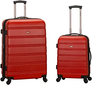 Rockland 20 Inch 28 Inch 2 Piece Expandable Abs Spinner Set, RED