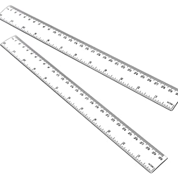 Amazon Com 12 Inch Ruler 2pcs Straight Ruler 30cm Ruler With Centimeters And Inches Plastic Measuring Tools Clear Office Products