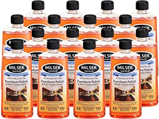 Milsek Furniture Polish and Cleaner with Orange Oil, 12-Ounce, Pack of 16, OR-MC