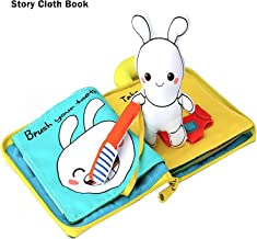 beiens My Quiet Books - 9 Theme Soft Activity Books for Babies, Toddler Learning Sensory Story Book, Life Skill Education & Identify 3D Cloth Books for Infants, Non Toxic Boys and Girls Soft Toys