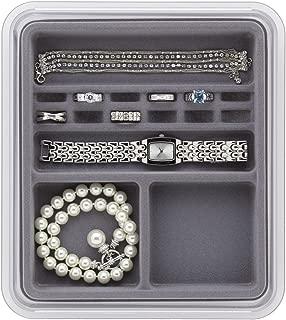 Neatnix Stax Jewelry Rings and Things Organizer, Pearl Grey