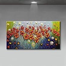 Handgeschilderd Olieverfschilderij - Abstract Modern 100% Handgeschilderde Olieverfschilderijen Mooie Bloemen Canvas Kunst...