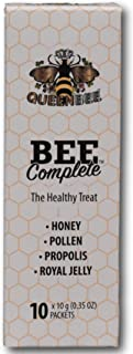 Bee Complete Natural Honey Formula (10 x 10g Tubes) by Queen Bee Honey - Pure Honey with Pollen, Propolis and Royal Jelly...